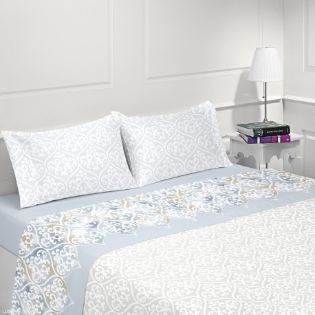 Micro-coralline bed sheet set LOR DE LIS