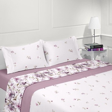 Micro-coralina Bed Sheet Set FLORA