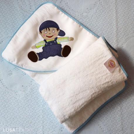 Toalha de banho bebé ZEQUINHA & PUPPETTE   PIUBELLE