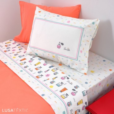 Laminated flannel bedding set MAKE-UP | Asa by Lameirinho