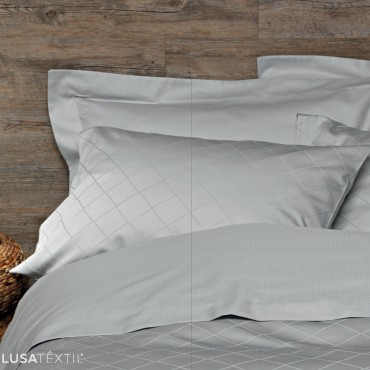 Parure de lit housse de couette satin LOSANGO | SAMPEDRO