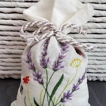 Lavender Embroidery Sachet - Lavender