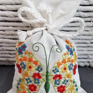 Sachet Brodé de Lavande - Borboleta