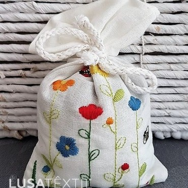 Embroidered Lavender Sachet - Campo